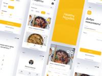 Healthy Noodles App UI