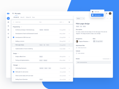 [My tasks] Project Management