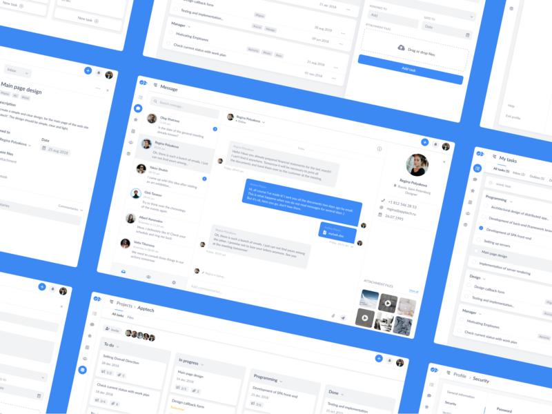 Openhub crm clean web interaction design ui  ux design ui