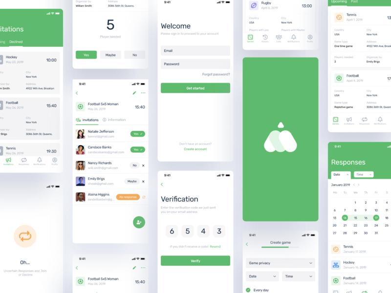 iPhone X - Manrim ios sport mobile app green app ui interface green