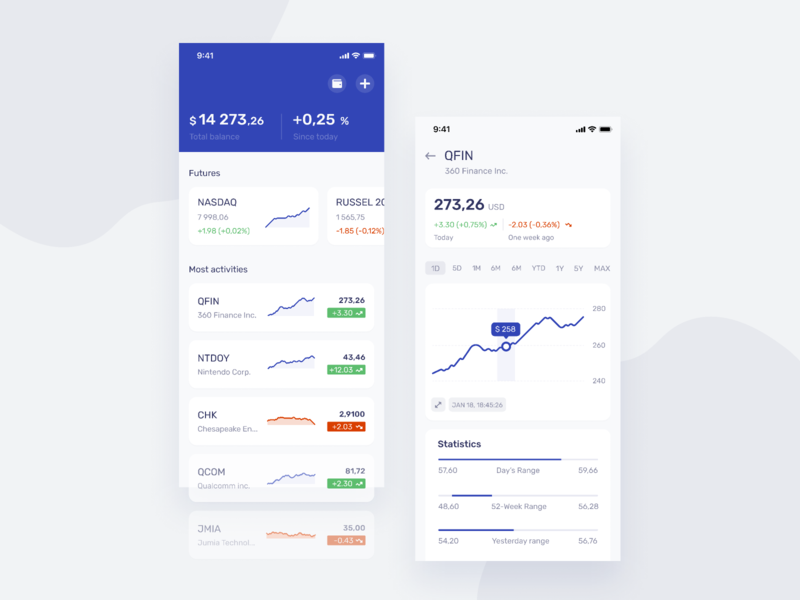 Finance Concept UI design economic finance ux ui stock