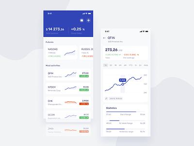 Finance Concept UI design economic finance ux ui stock