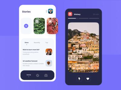 Stories UI Concept
