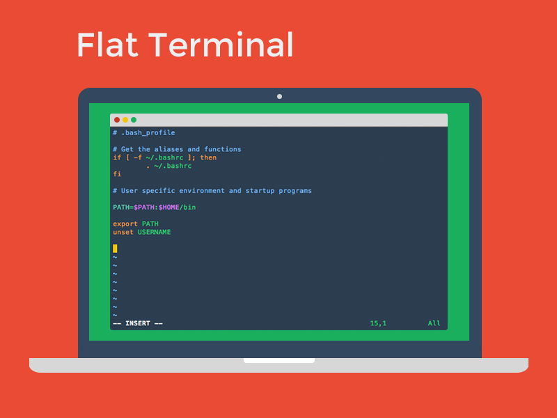 Flat UI Terminal Theme flat terminal mac freebie free apple os x terminal theme flat design terminal color theme color theme flat ui iterm