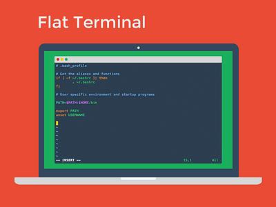 Flat UI Terminal Theme flat terminal mac freebie free apple os x terminal theme flat design terminal color theme color theme flat ui iterm