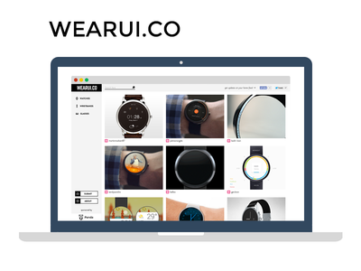 Wearui watch wristband glass wear wearui wearable android flat inspiration collection google glass android ui