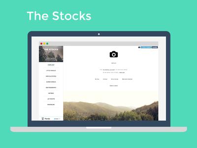 The Stocks stock free freebie flat animation css3 html5 sidebar iframe stock photos
