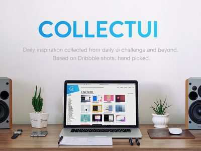 CollectUI - Handpicked daily inspiration mockup sidebar helvetica inspiration dailyui