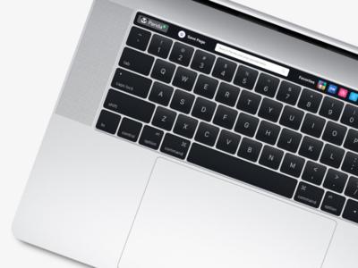 Panda Touch Bar Concept macbook pro touch bar concept pro macbook apple bar touch