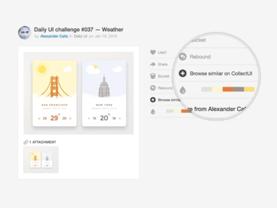 Collect UI -- Collector's Extension 🗂 chrome extension gadget tool tools dribbble