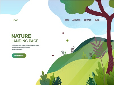 Landing page for nature topic