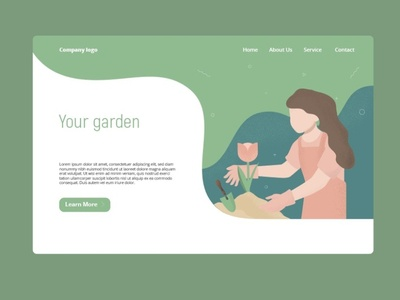 Gardening illustration for landing page