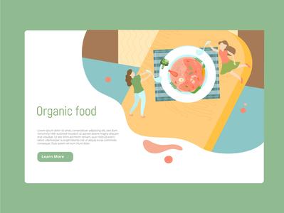 Organic healthy food landing page