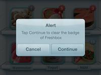 Alert window redesign in freshbox