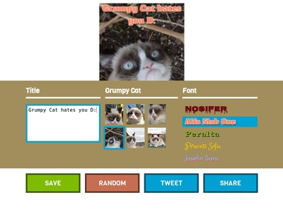 Grumpy Cat hates you - Create your own meme!