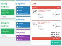 FlatUI Checkout concept