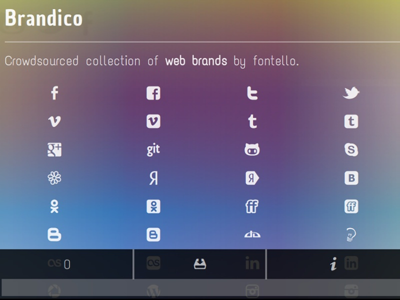 Weloveiconfonts dribbble