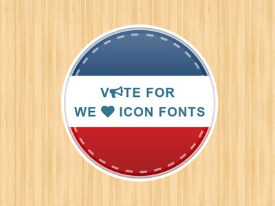 Vote For We Love Icon Fonts