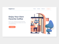 landing page for coffeeshop