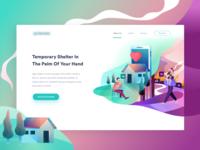 Social app landing page