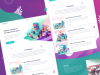 Social App's Landing Page