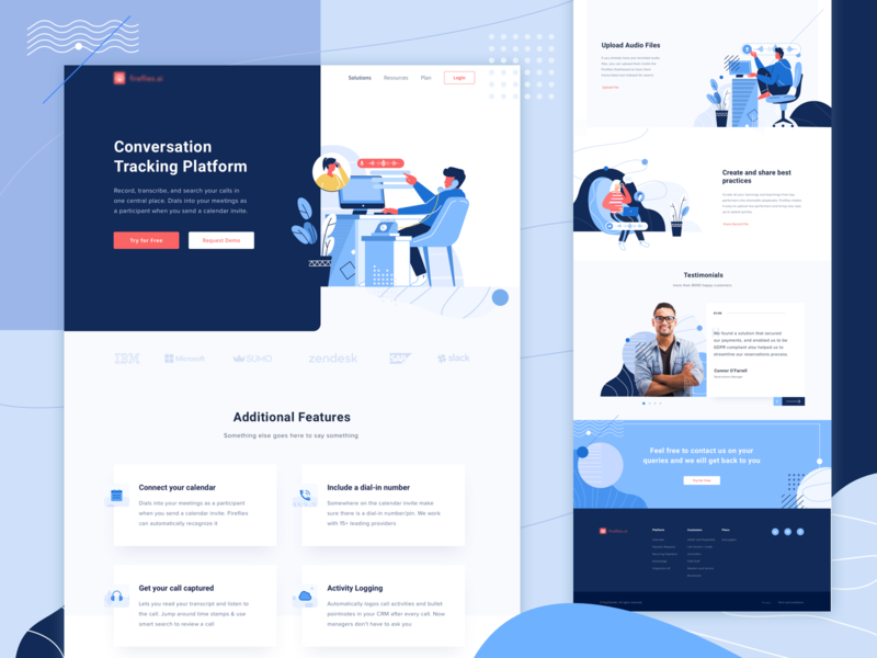 Tracking App Landing Page blue pattern design pattern graphic clean tracking conversation vector app ui landingpage landing header design illustration