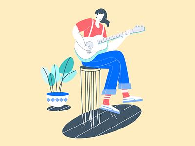 Solo Guitarist exploration ui music guitarist guitar design illustration