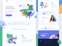 email manager's landing page