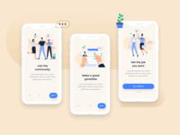 Onboarding mobiles using Job seeking Illustrations