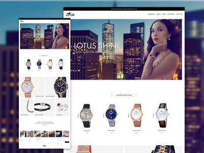 Lotus Redesign Concept store shop ux ui landing website watches product homepage ecommerce
