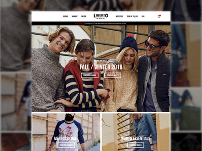 Liberto Buenos clothing website concept redesign store shop fashion eshop ux ui homepage ecommerce jeans clothing