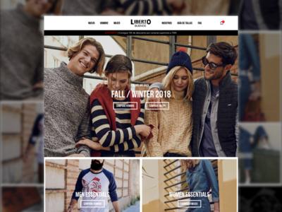 Liberto Buenos clothing website concept