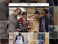 Liberto Buenos clothing website concept