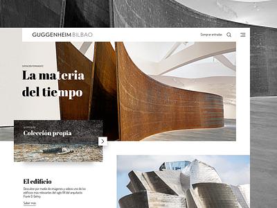 Guggenheim Bilbao Early Concept homepage minimal webdesign website ui art museum