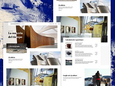Guggenheim Bilbao concept 2 minimal modern contemporary homepage art museum ui redesign
