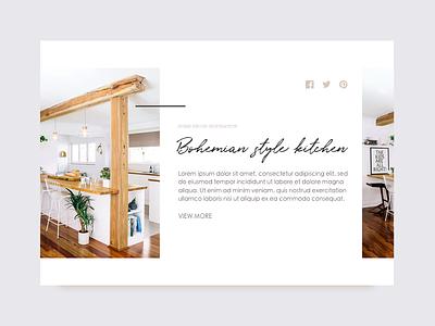 Minimal blog article card website clean blog ui kitchen decor boho bohemian minimal