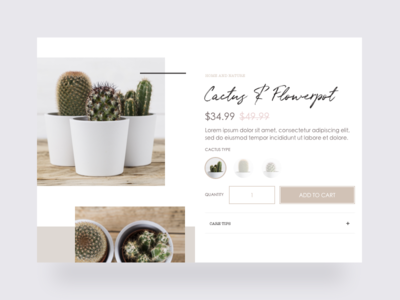 Bohemian store - Cactus product page