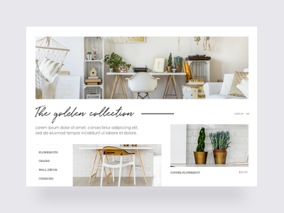Boho Store Collection Page webdesign ux ui shopify product minimal inspiration ecommerce decor clean bohemian bedroom