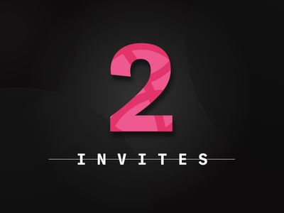 2 Dribbble Invites designer ux web design ui illustration sketch dribbble giveaway invitation invite