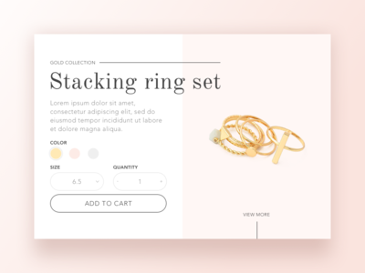 Jewelry store product page concept