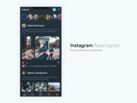 Instagram Redesigned (Dark)
