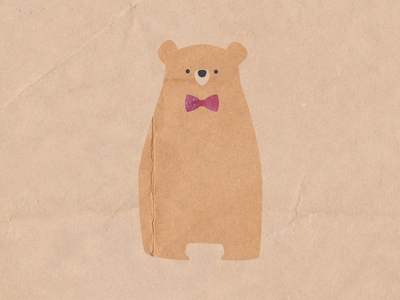 Frederik says hi characterdesign characters collage bear fun cute character illustration childrensillustration