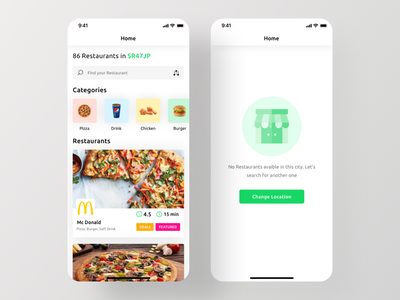 Restify App UI Kit - Home Screen uber eats ubereats foodpanda ui kit ios app kit app ui design food delivery app ios app design restaurant app