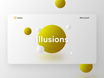 Lousion 3D Landing Page inspiration minimal website ui design landing page