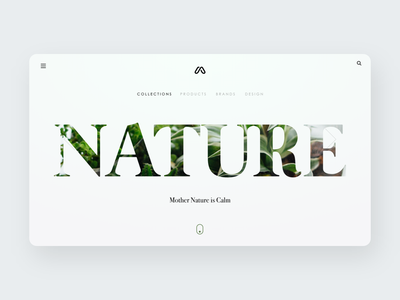 Nature Landing Page website designer webpage website ui design simple nature hero section minimal design landing page website design
