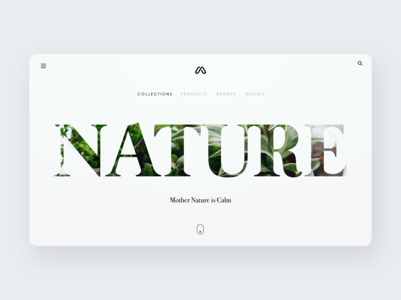Nature Landing Page website designer webpage website ui design simple nature hero section minimal design landing page website design