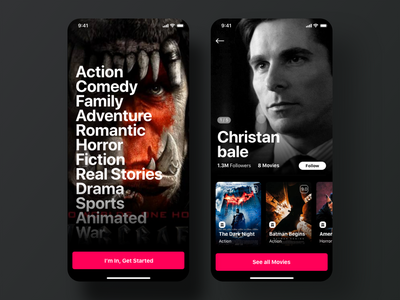 Moovbox - Movie App ui kit ios app netflix movie app