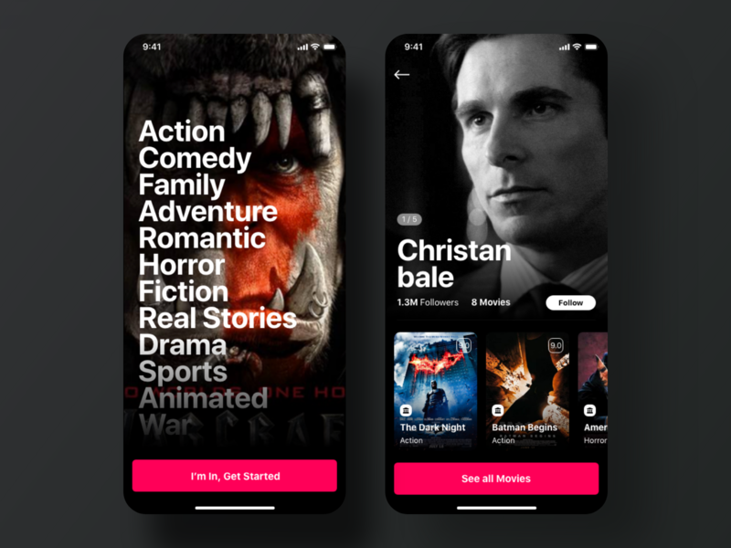 Moovbox - Movie App ui kit ios app netflix movie app
