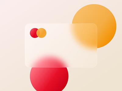Mastercard Glassmorphism - Freebie payment glassmorphism credit card mastercard minimalism ui design
