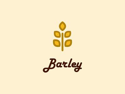 Barley - Logo Design typography monogram logo design brand identity